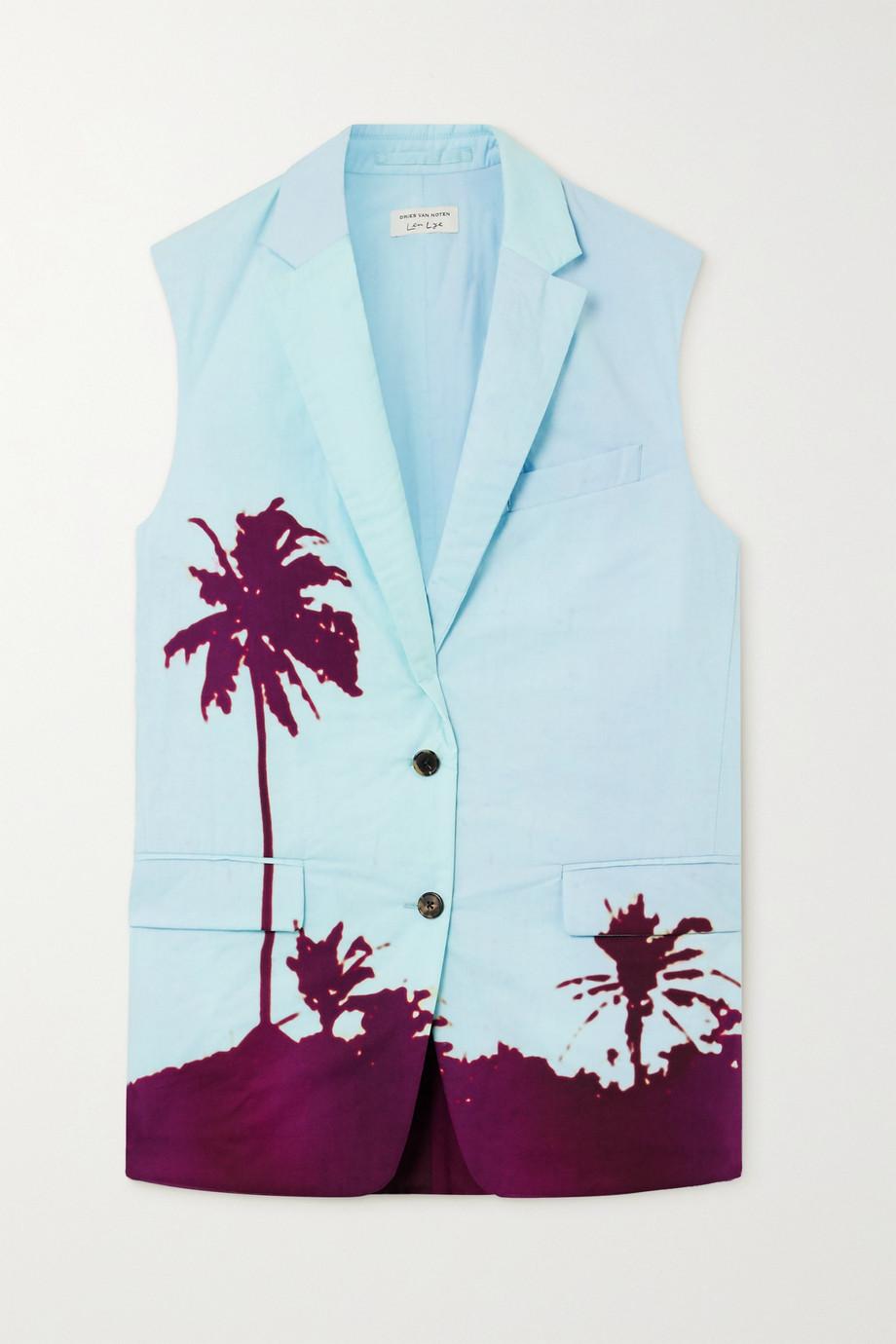 Dries Van Noten Printed cotton-poplin vest