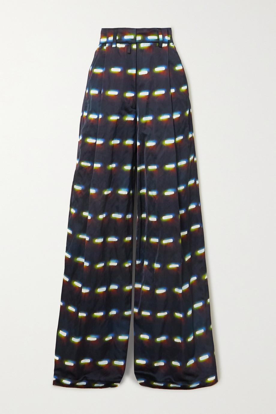 Dries Van Noten Podium printed woven wide-leg pants