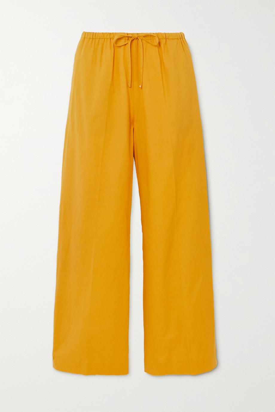 Dries Van Noten Cotton-blend wide-leg pants
