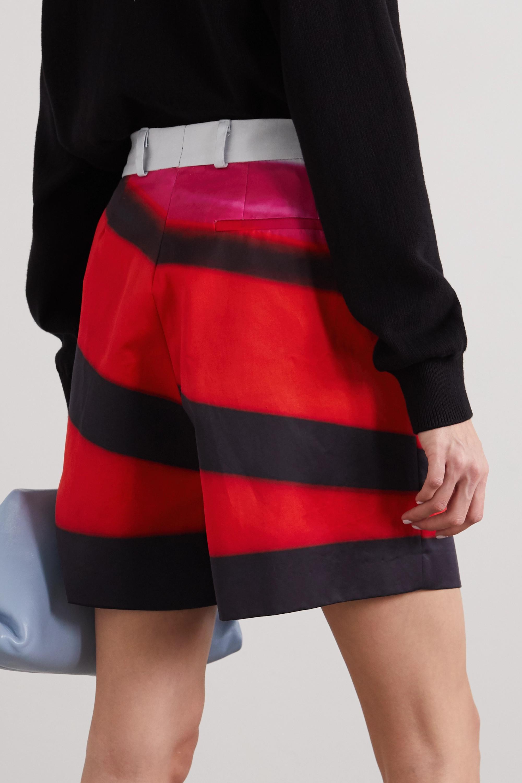 Dries Van Noten Striped cotton-sateen shorts