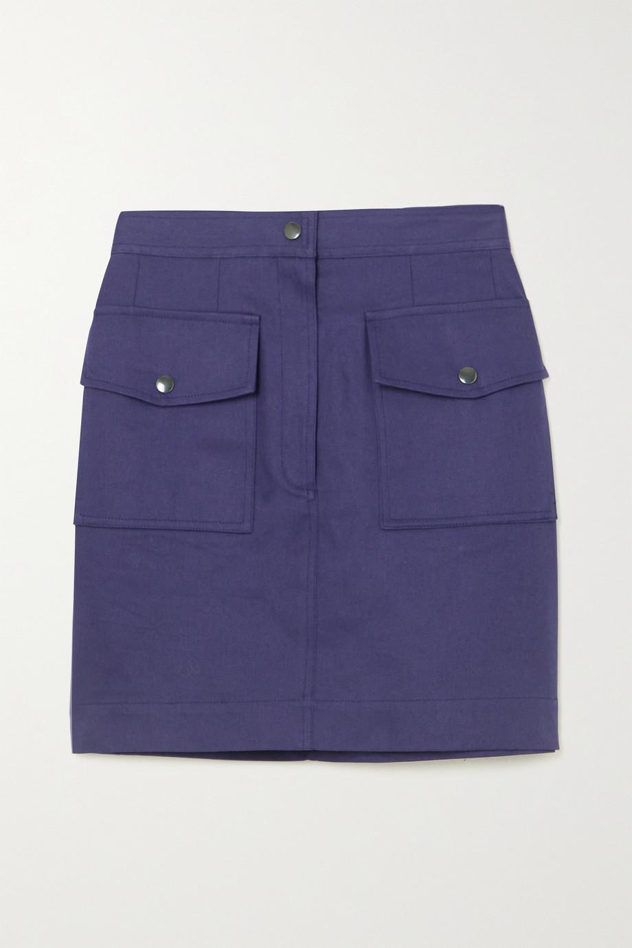 Dries Van Noten Cotton-twill mini skirt