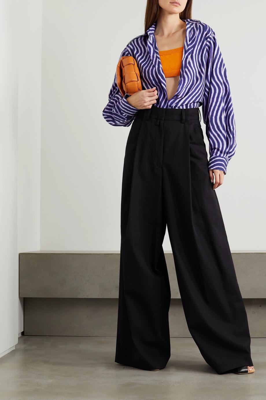 Dries Van Noten Striped cotton-poplin shirt