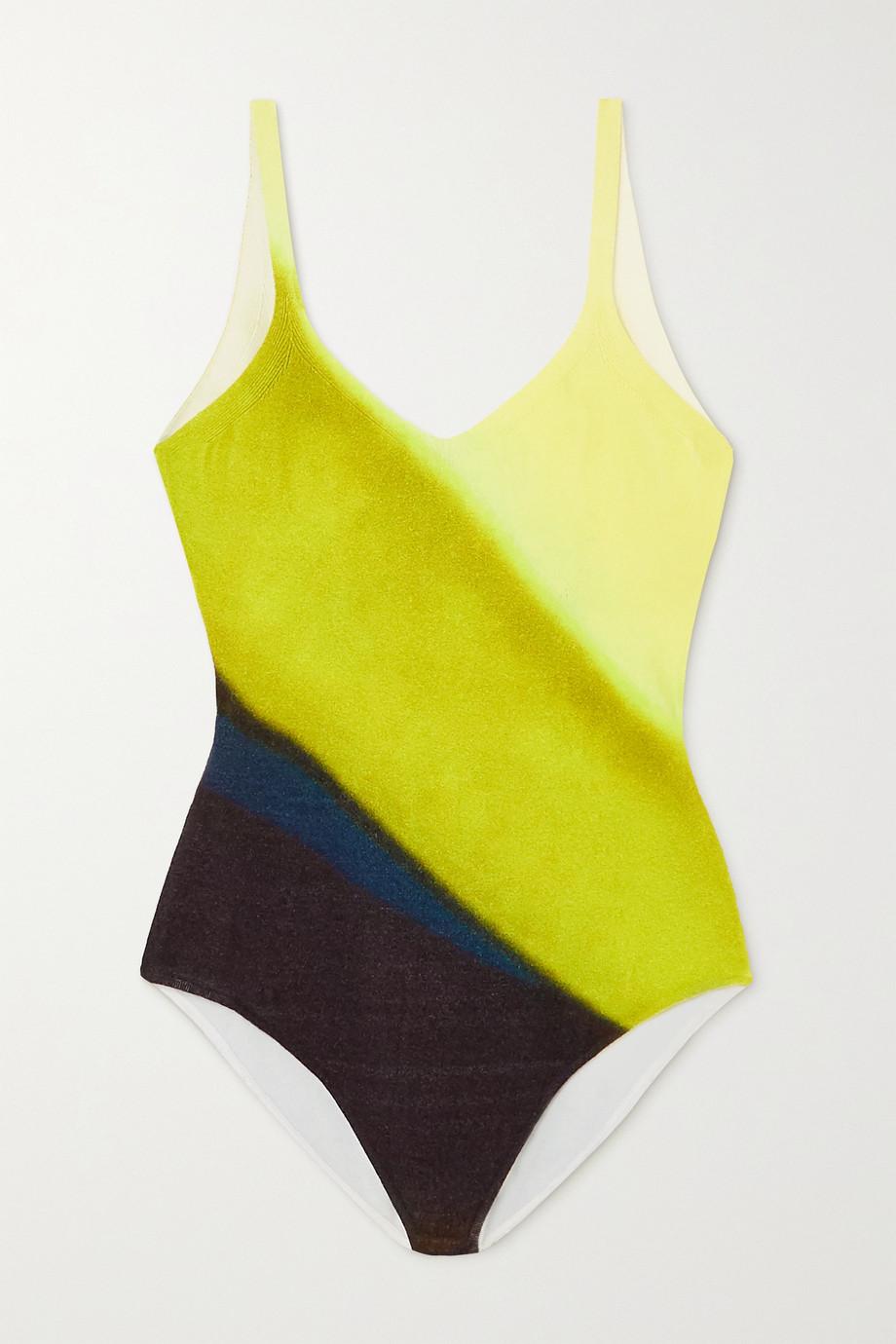 Dries Van Noten Open-back striped knitted bodysuit