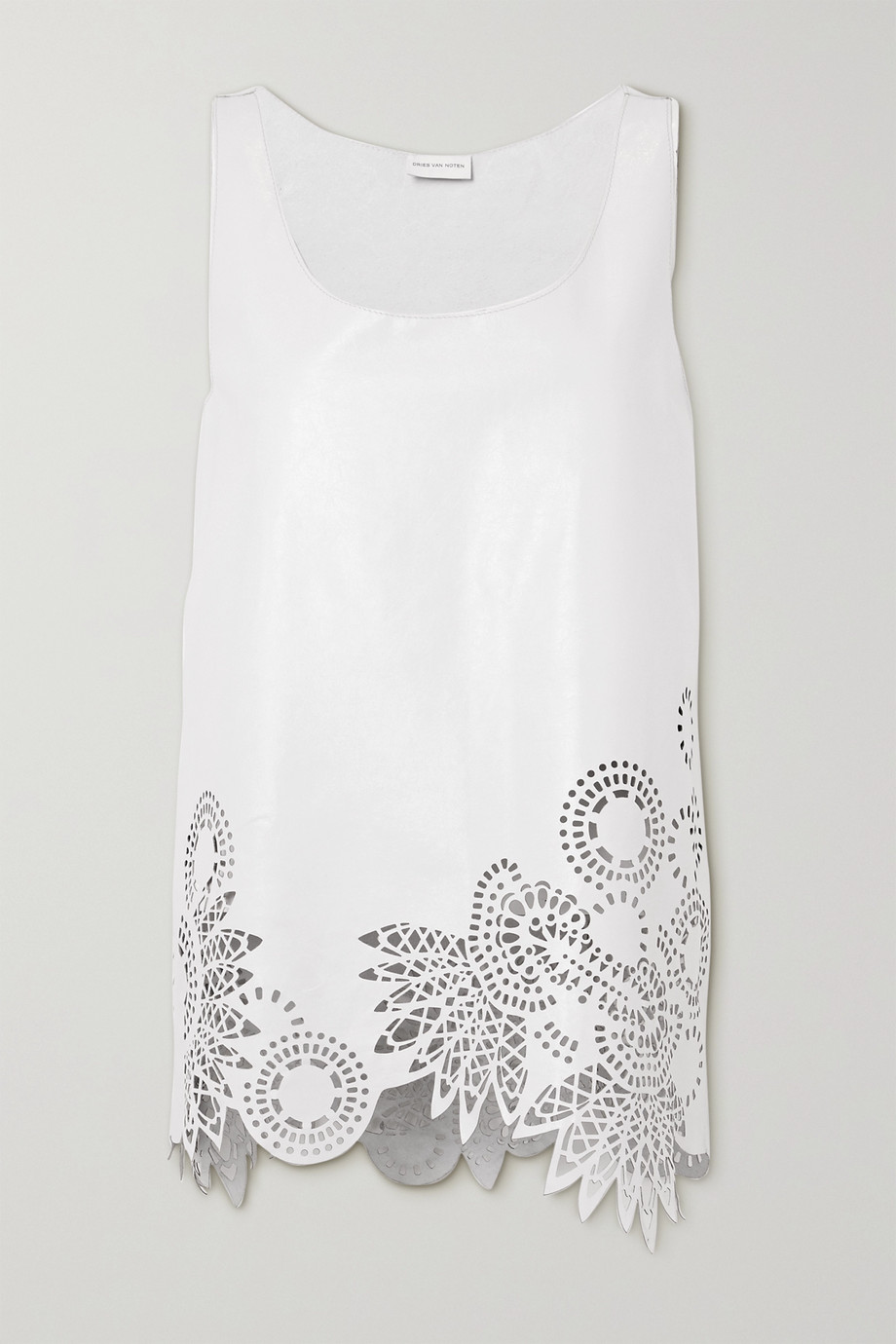 Dries Van Noten Laser-cut leather tank
