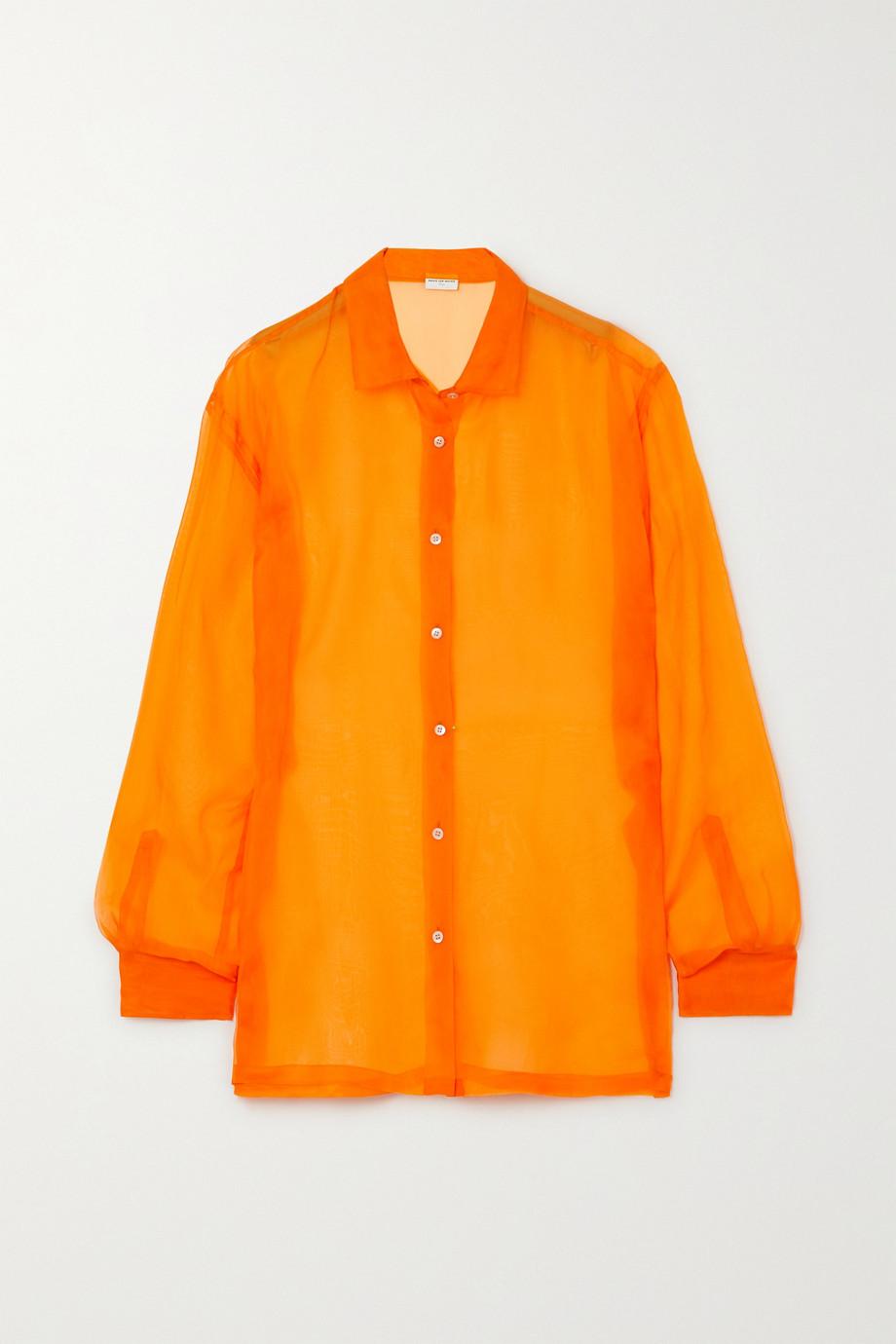 Dries Van Noten Silk-organza shirt