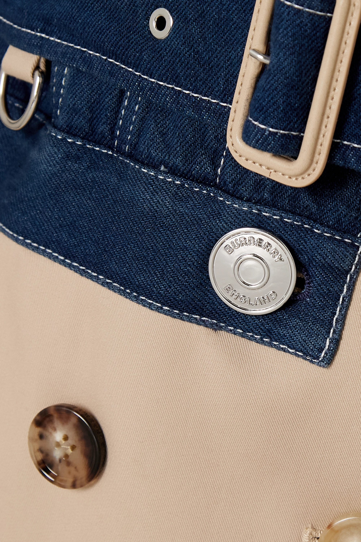 Burberry Trench-coat en gabardine de coton et en jean