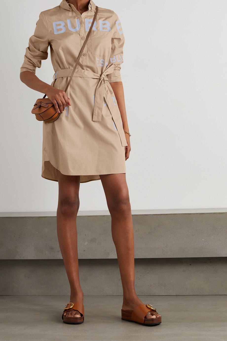 Burberry Kiley printed cotton-poplin mini shirt dress