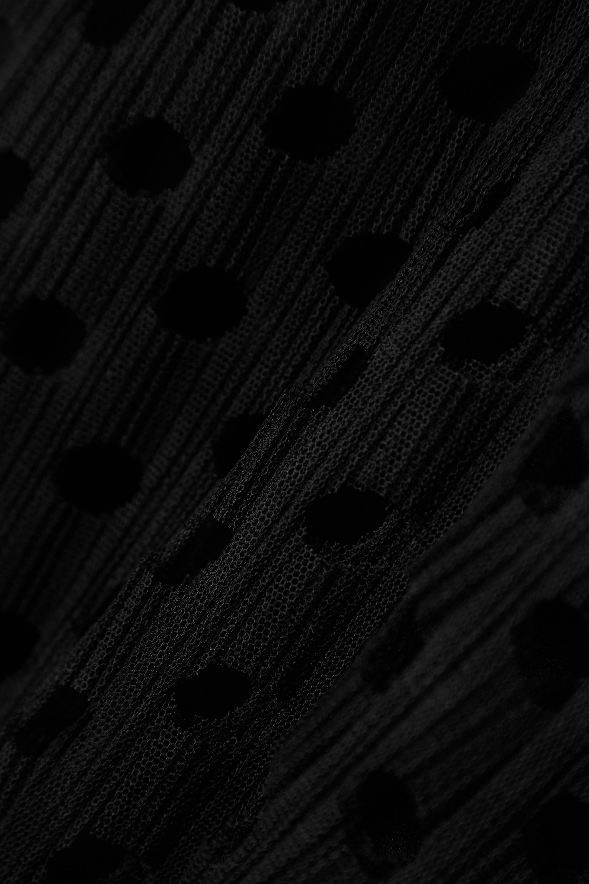 Burberry Ruffled laser-cut tulle mini dress