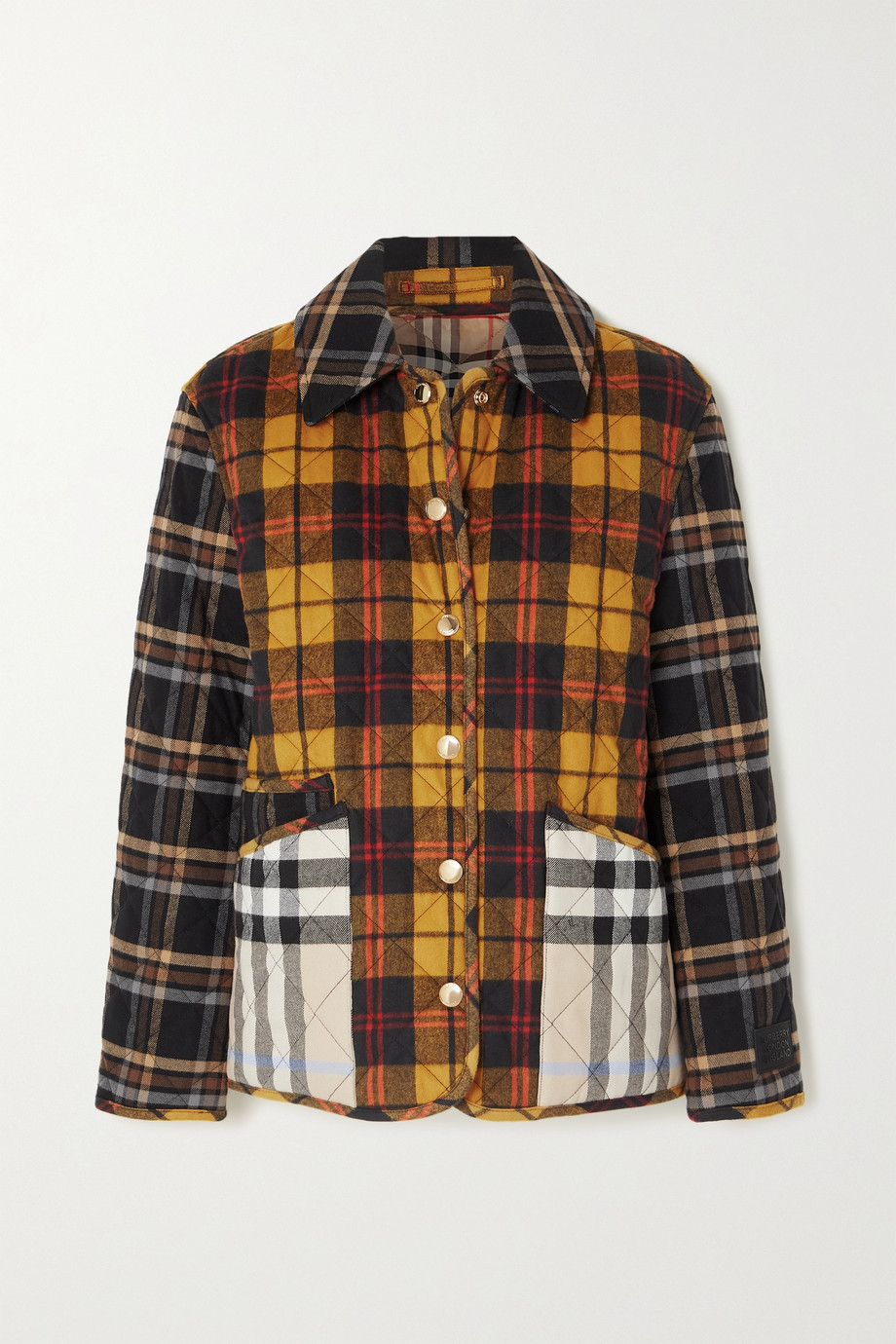 Burberry Checked quilted cotton jacket
