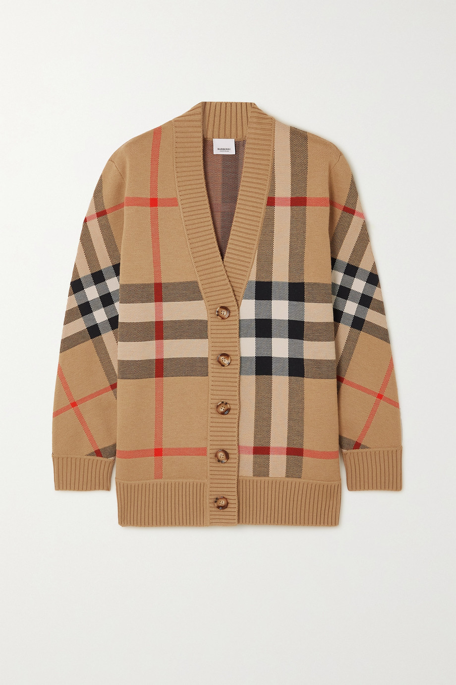 Burberry Checked jacquard-knit cardigan