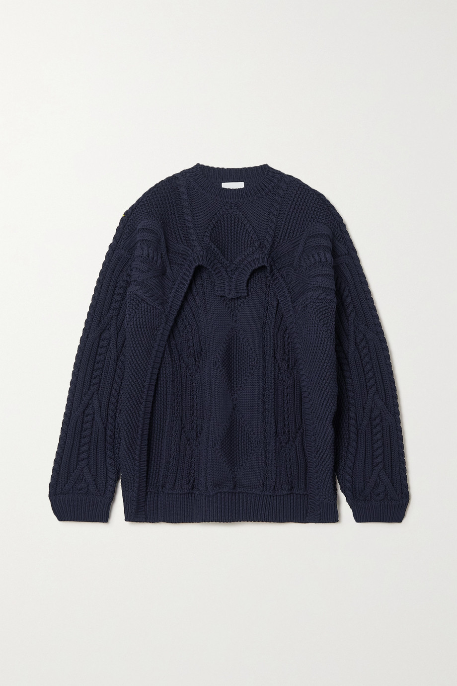Burberry Cutout cable-knit cotton-blend sweater