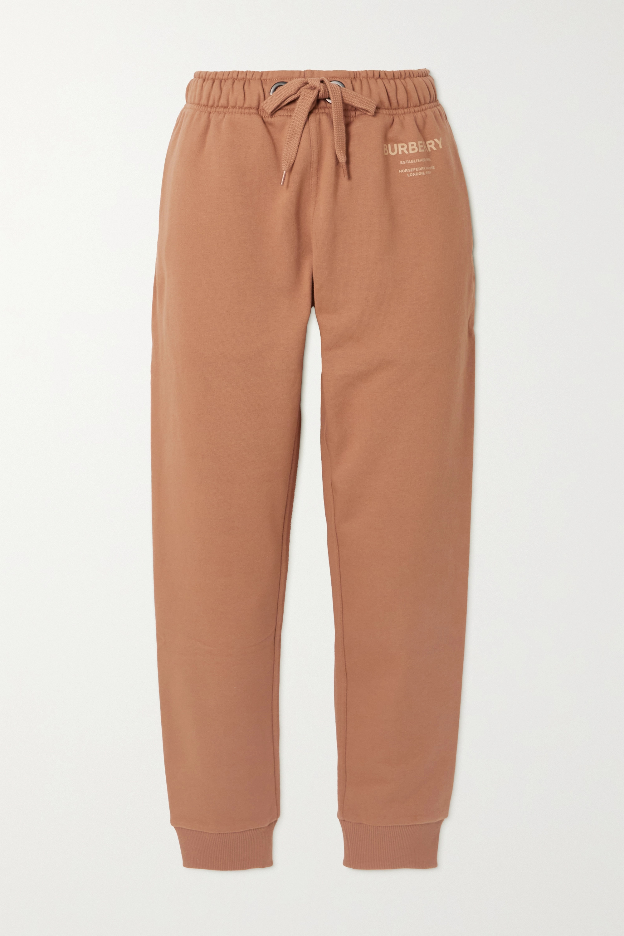 Burberry Esme printed cotton-jersey track pants