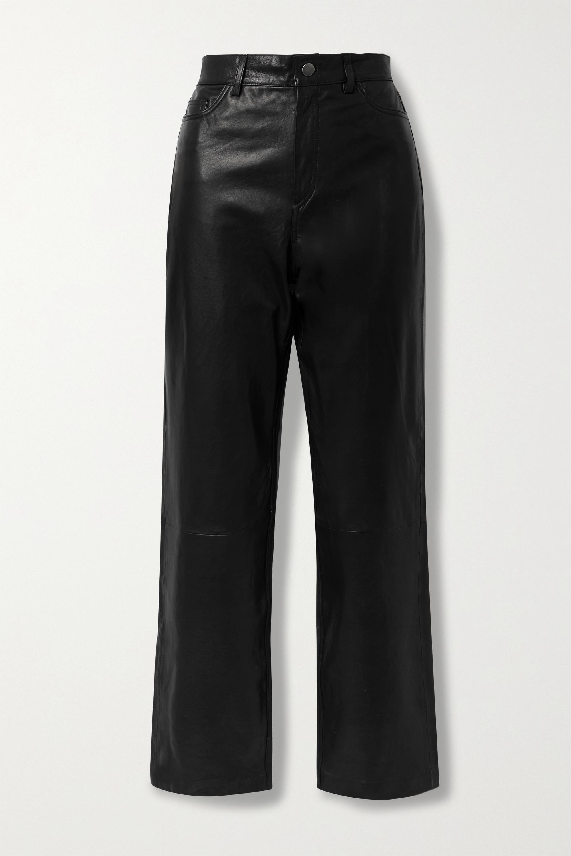 Envelope1976 City Hose mit geradem Bein aus Leder