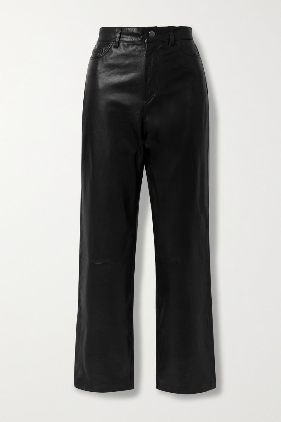 Envelope1976 City leather straight-leg pants