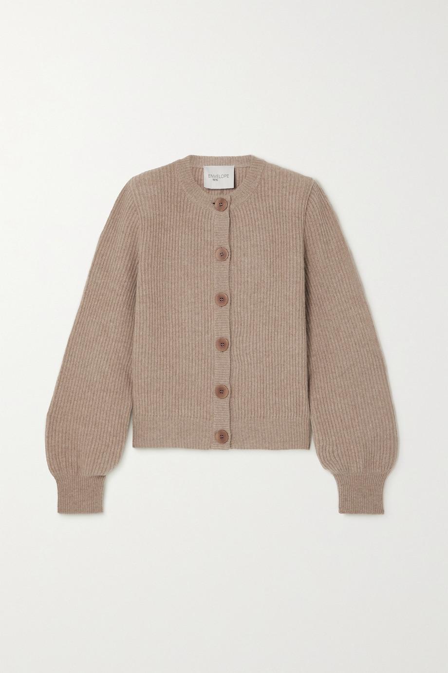 Envelope1976 Vika reversible ribbed wool and cashmere-blend cardigan