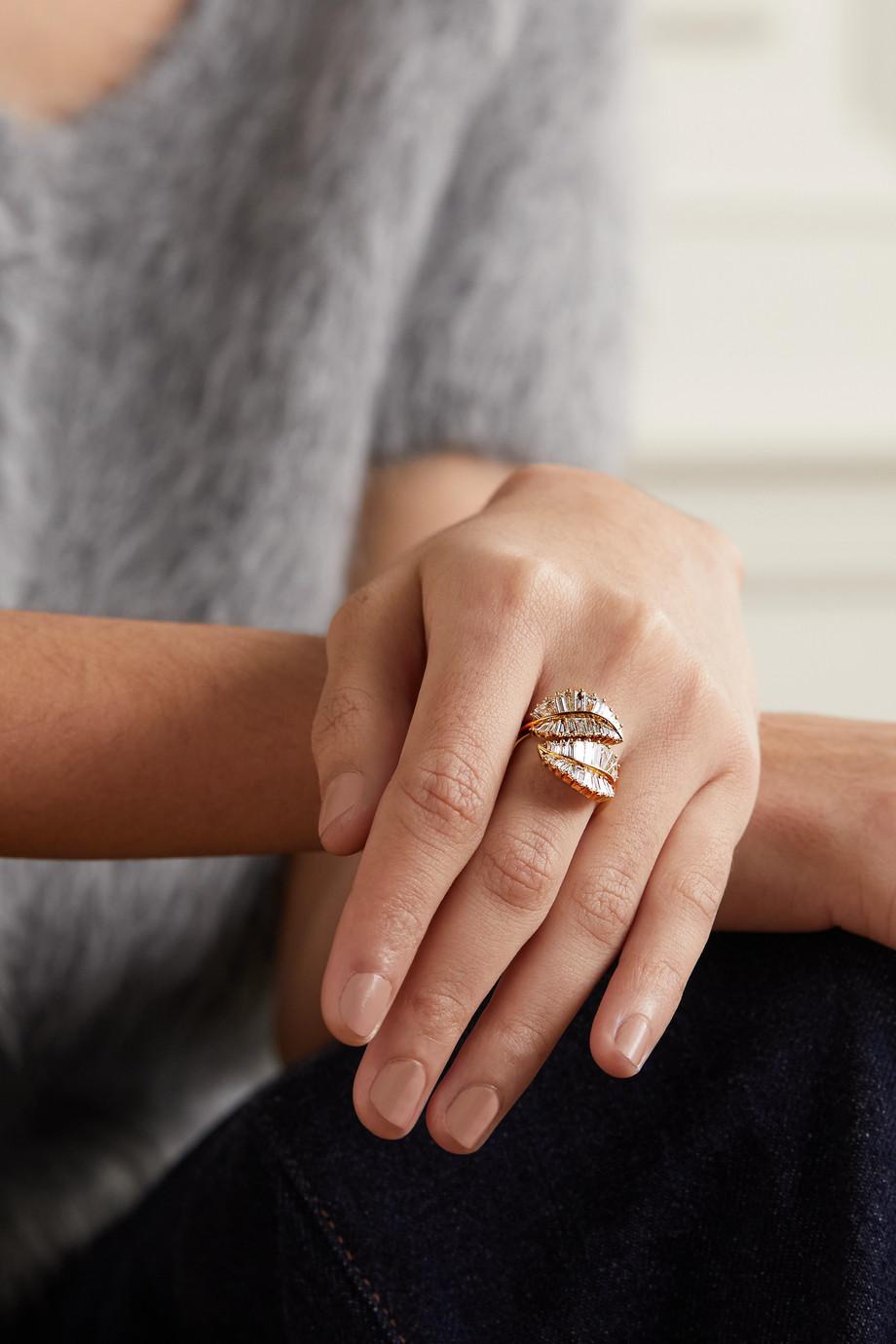 Anita Ko Palm Leaf 18-karat gold diamond ring