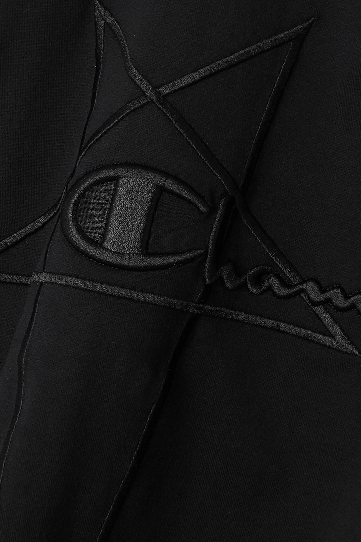 Rick Owens + Champion Jumbo oversized logo-embroidered cotton-jersey T-shirt