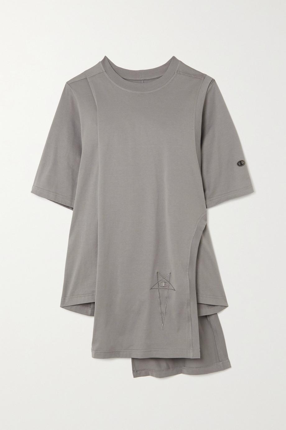 Rick Owens + Champion Toga layered organic cotton-jersey T-shirt