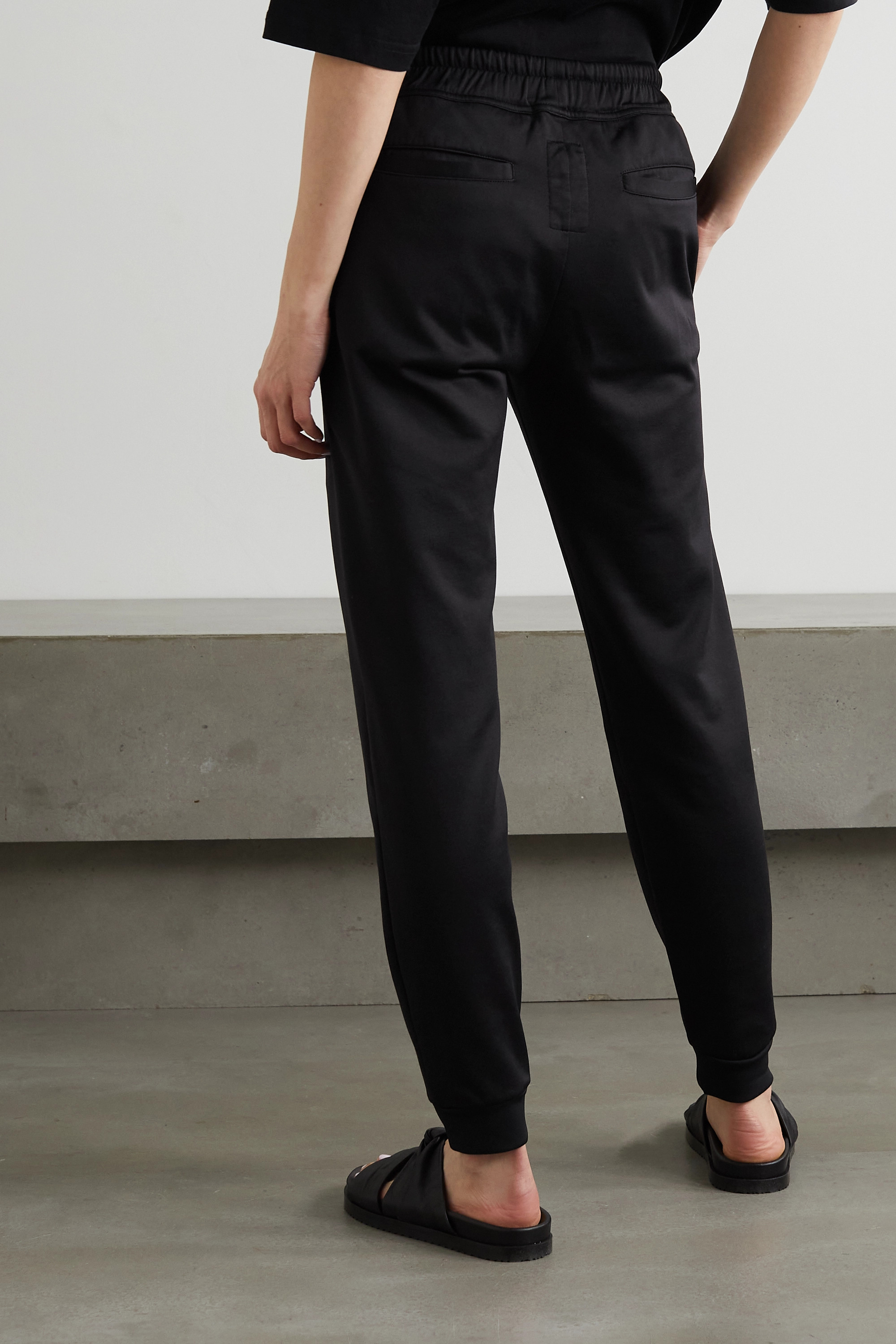 Rick Owens + Champion embroidered cotton-blend jersey track pants