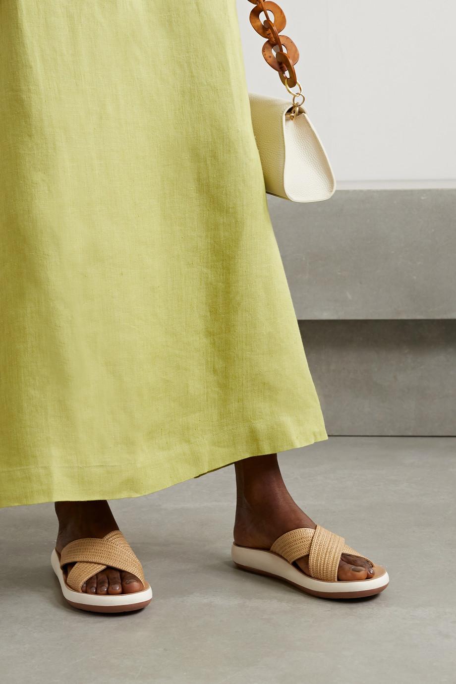 Ancient Greek Sandals Thais Pantoletten aus geflochtenem Raffiabast