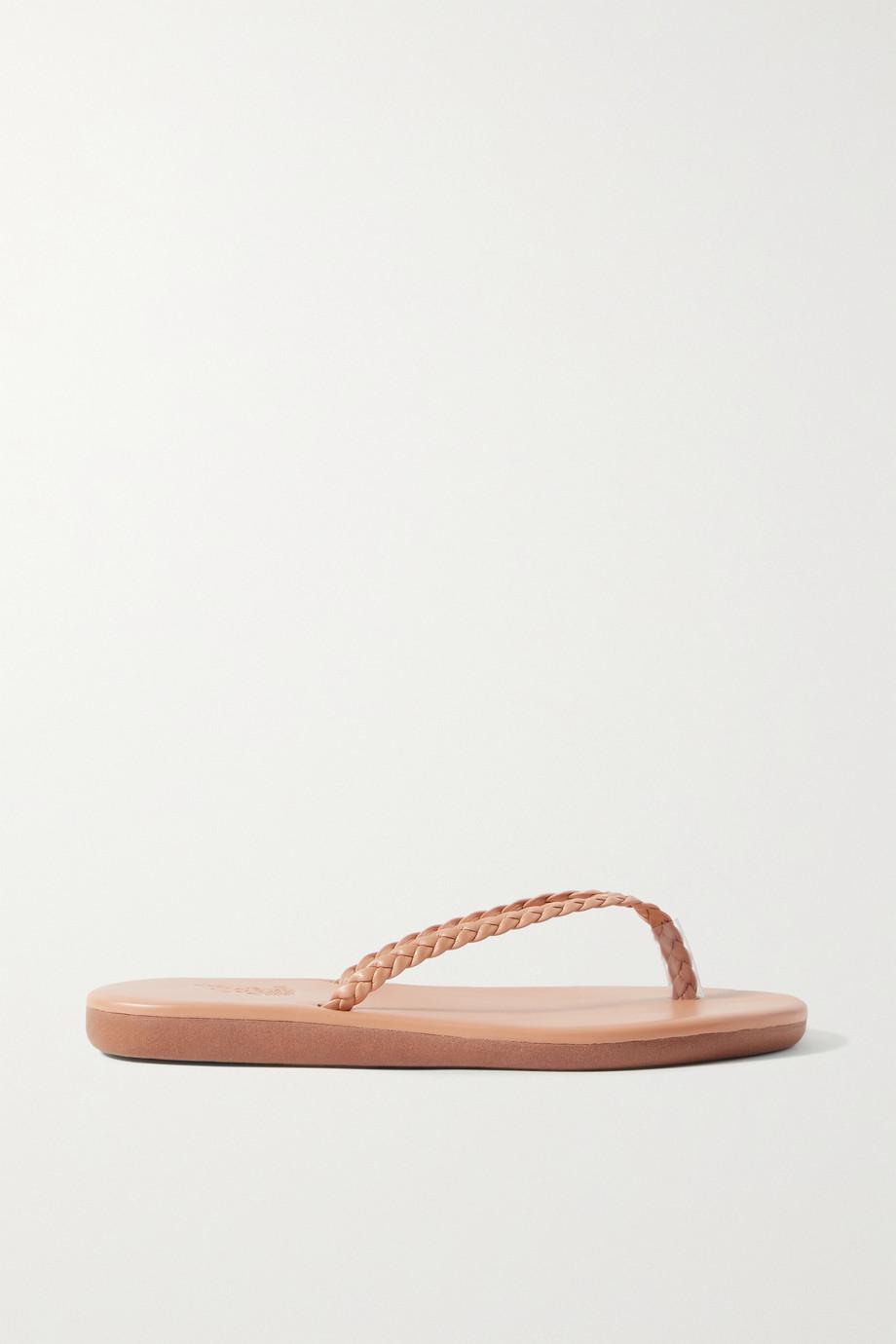 Ancient Greek Sandals Tongs en cuir tressé Plage