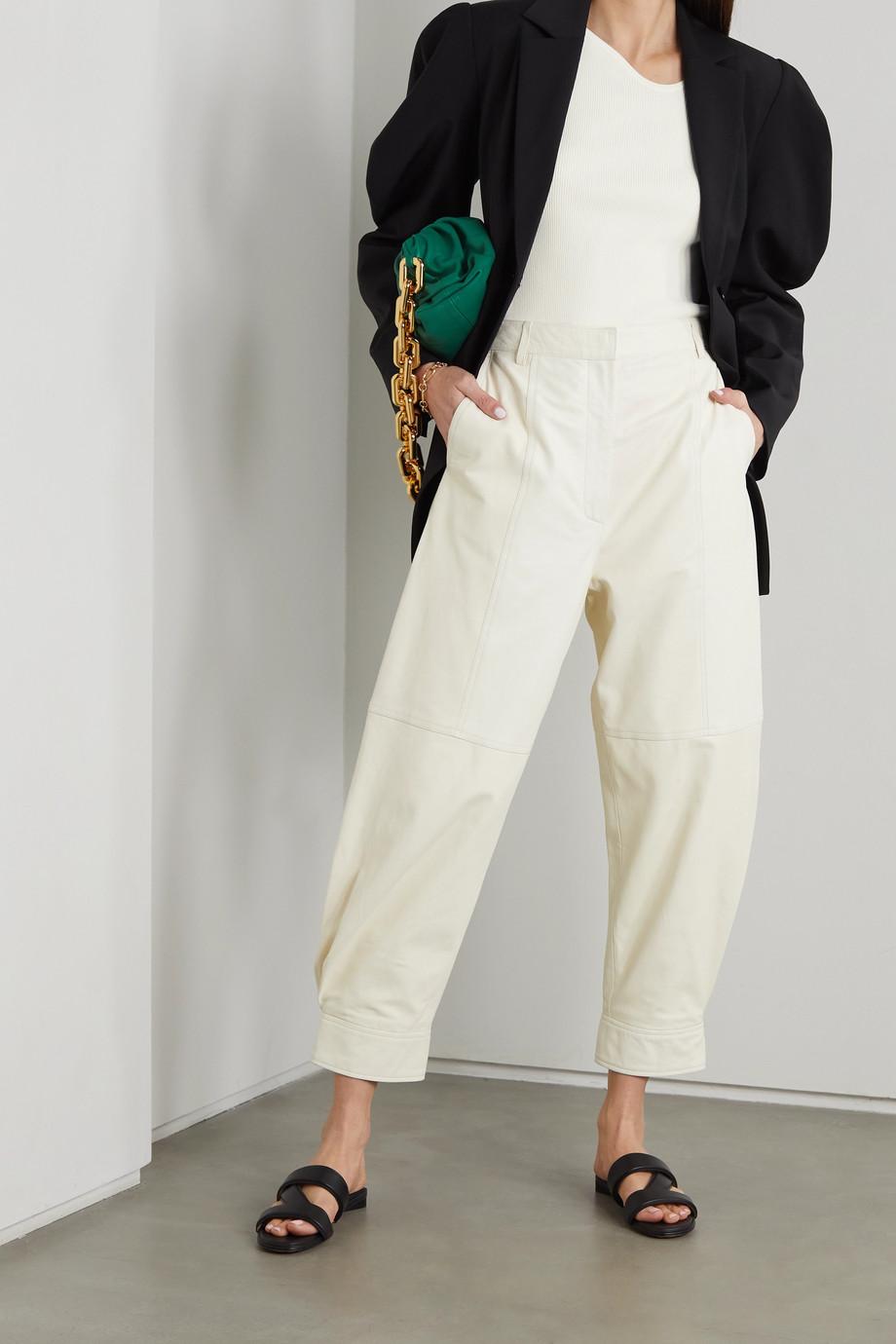 Tibi Giselle asymmetrischer Pullover aus geripptem Stretch-Strick