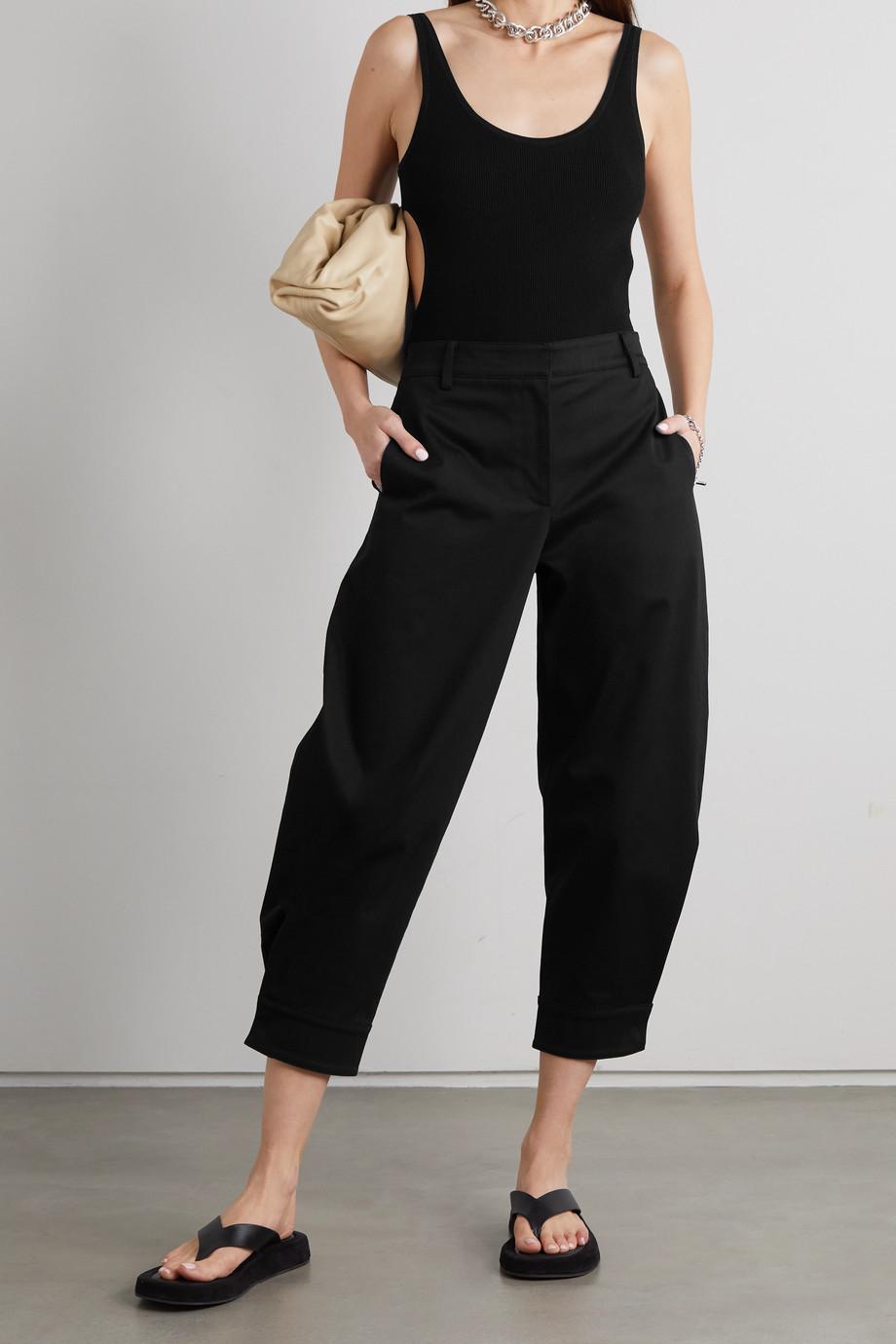 Tibi Organic cotton-blend twill tapered pants