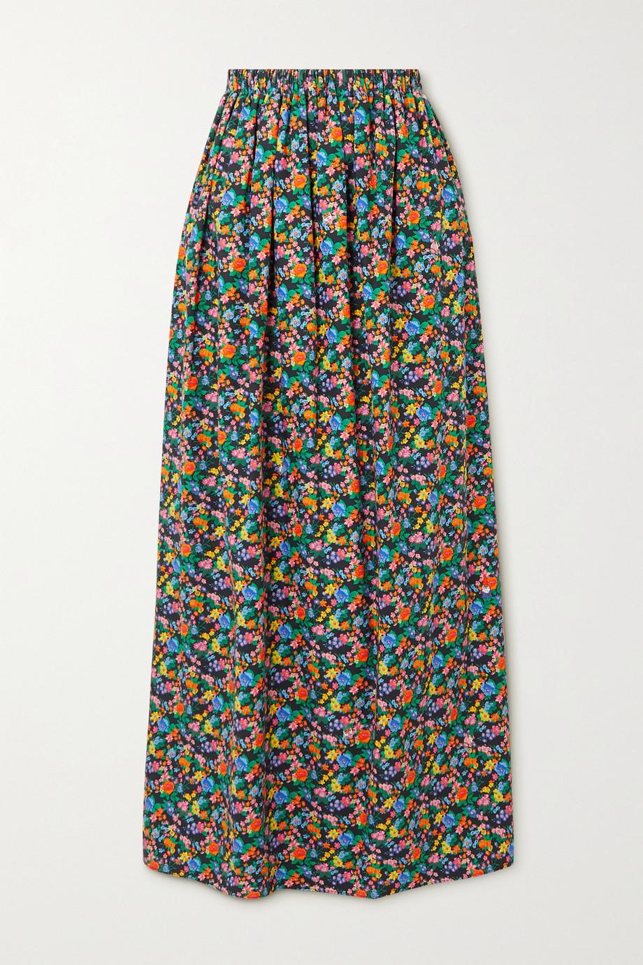 Tibi Sabine floral-print cotton-poplin maxi skirt