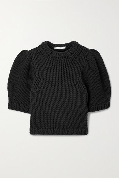 Tibi Cottons OPEN-KNIT COTTON-BLEND SWEATER