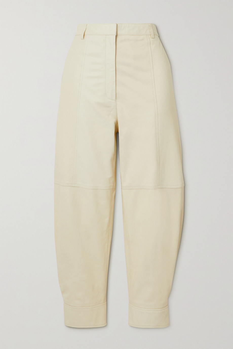 Tibi Leather tapered pants