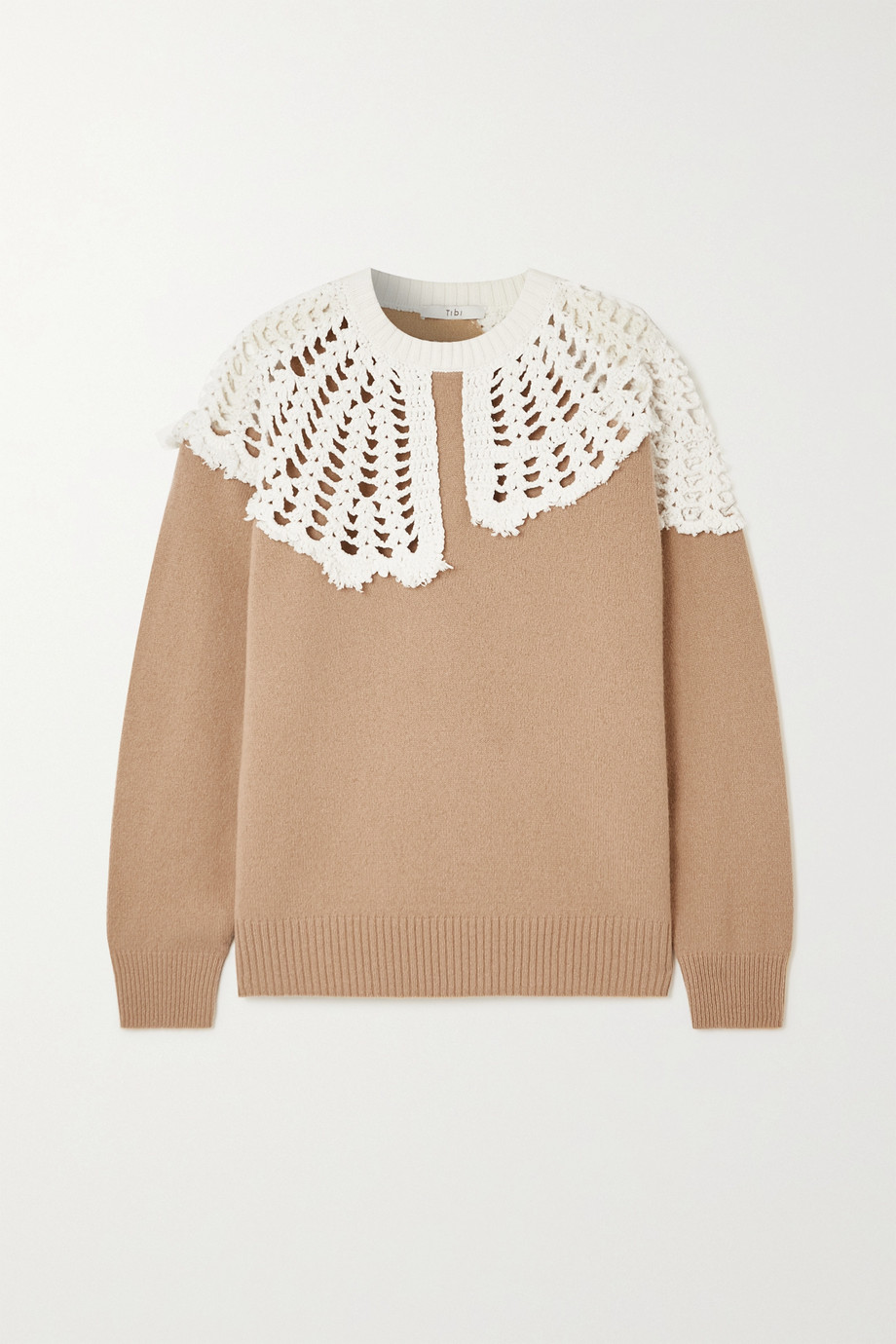 Tibi Lana crocheted cotton and wool sweater