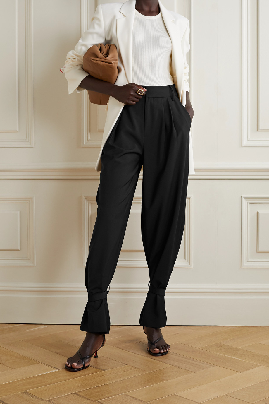 Tibi Stella convertible crepe wide-leg pants