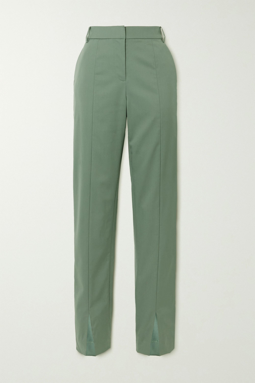Tibi Cassius wool-blend slim-leg pants