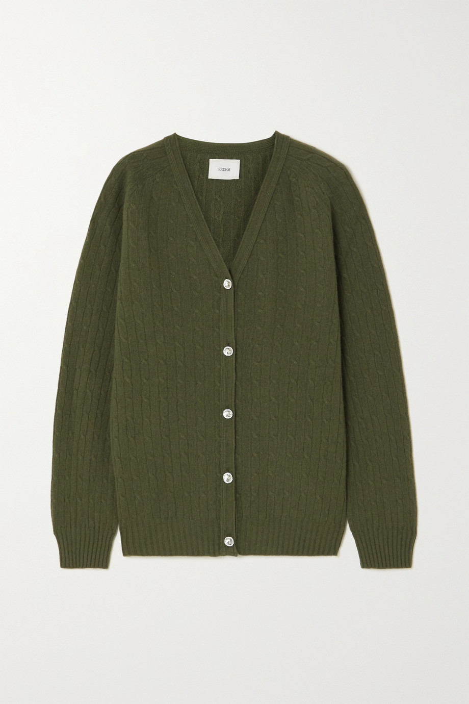 Erdem Myra merino wool and cashmere-blend cardigan