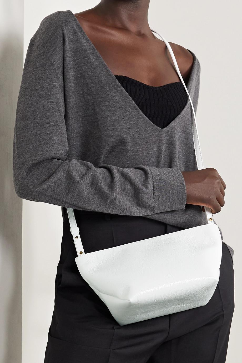 Khaite Adeline crinkled patent-leather shoulder bag