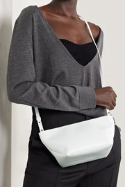 Khaite Adeline crinkled patent-leather shoulder bag