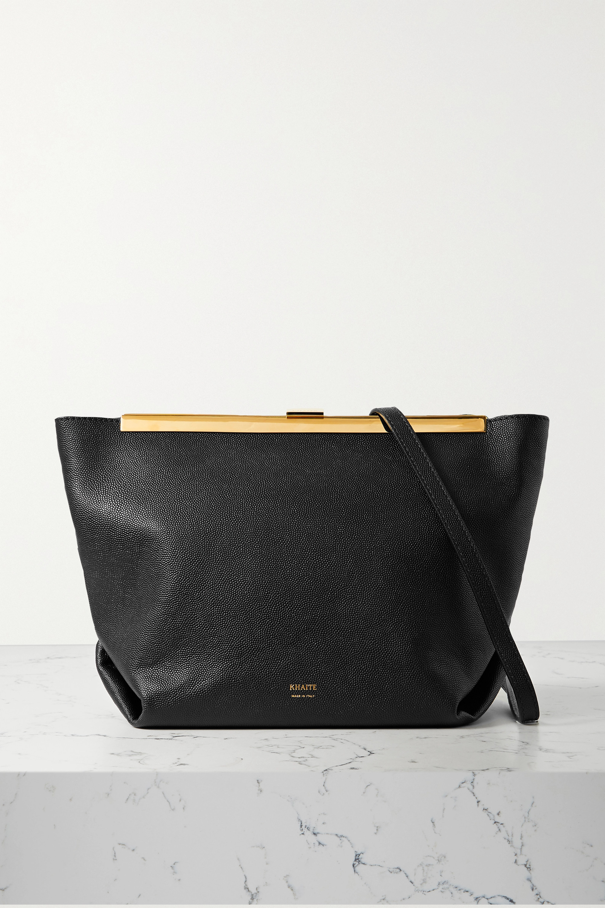 Khaite Augusta textured-leather shoulder bag