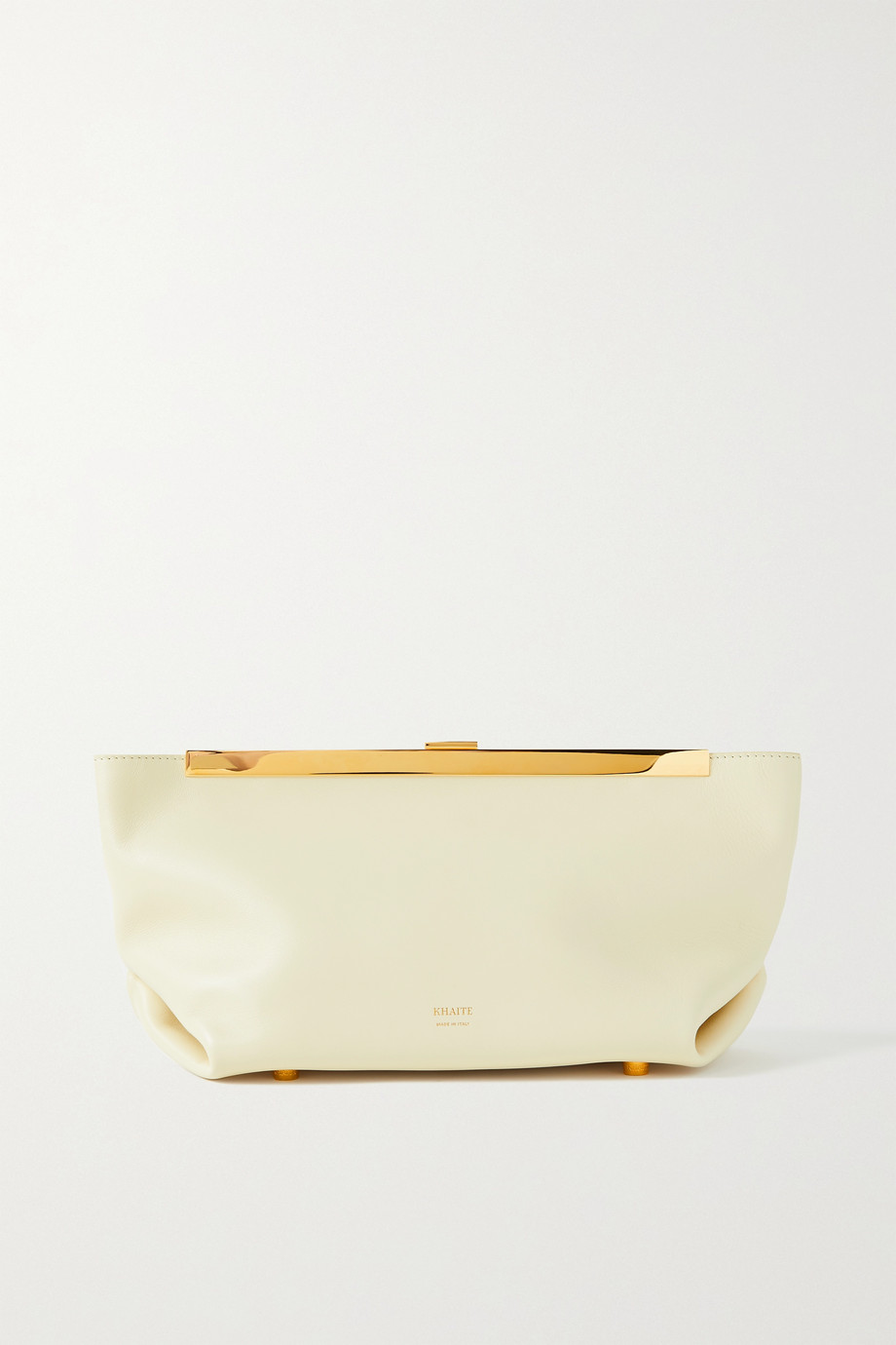 Khaite Aimee leather clutch