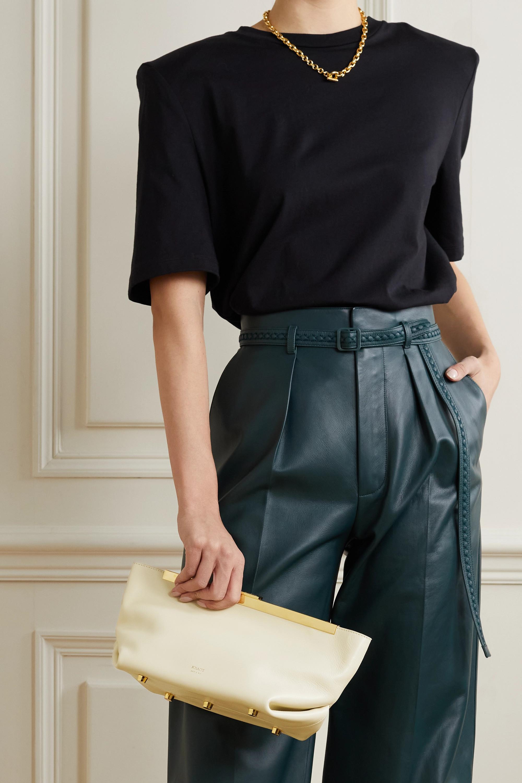 Khaite Aimee leather clutch