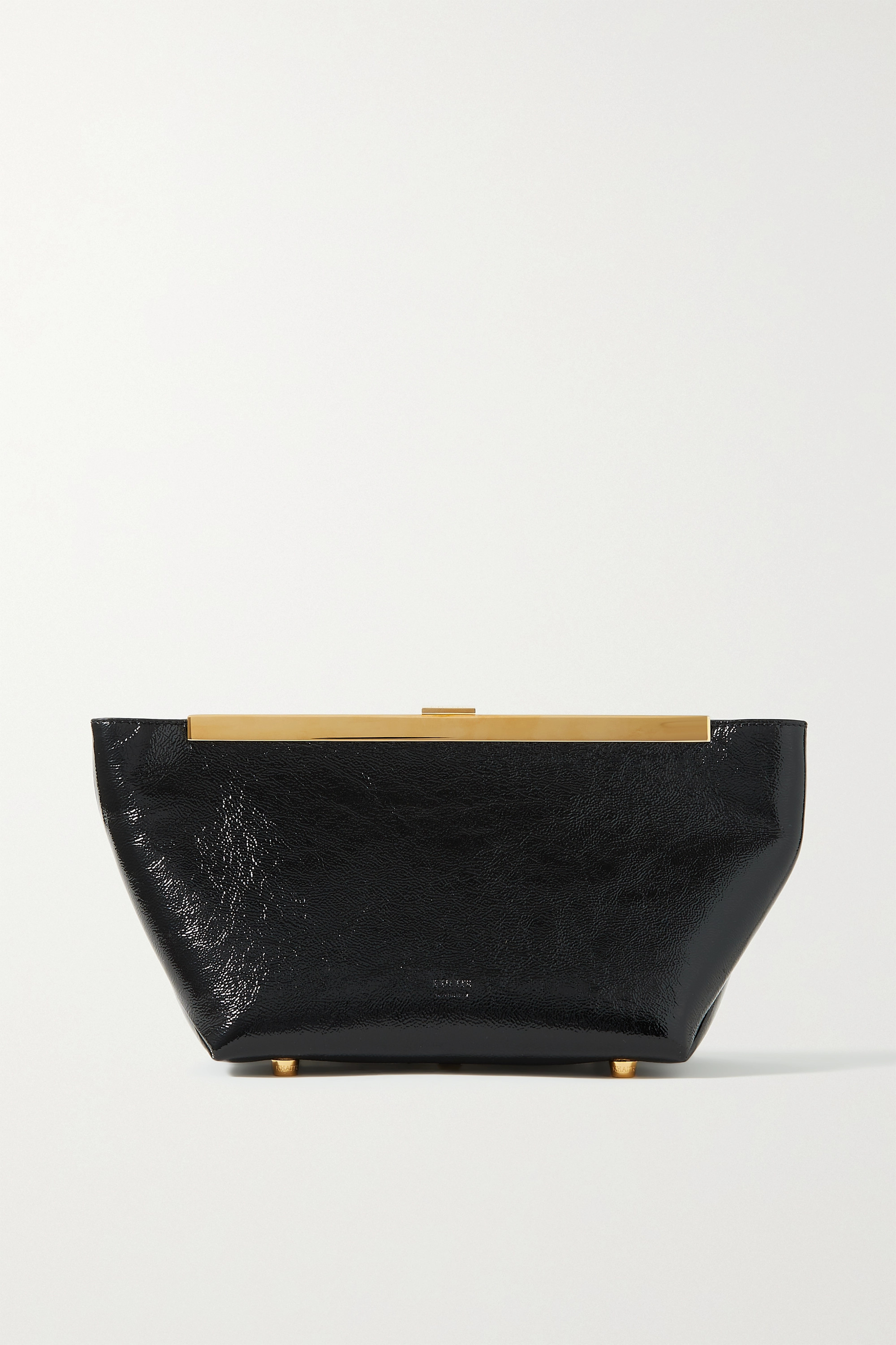 Khaite - Aimee crinkled patent-leather clutch