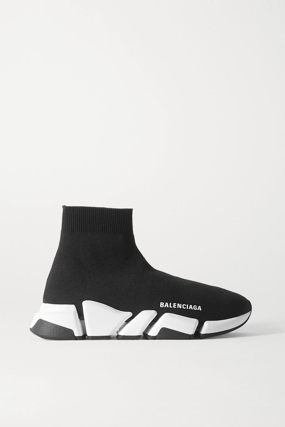 Balenciaga Speed 2.0 logo-print stretch-knit high-top sneakers
