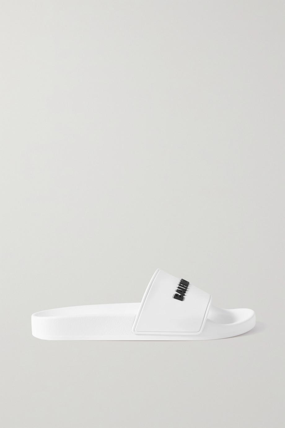 Balenciaga Claquettes en caoutchouc à logo Pool