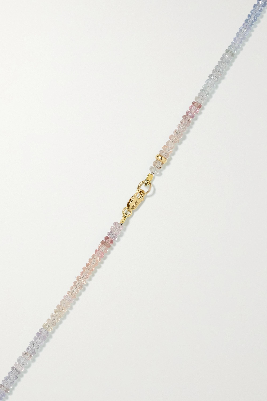 JIA JIA Kette mit Saphiren und Details aus 14 Karat Gold
