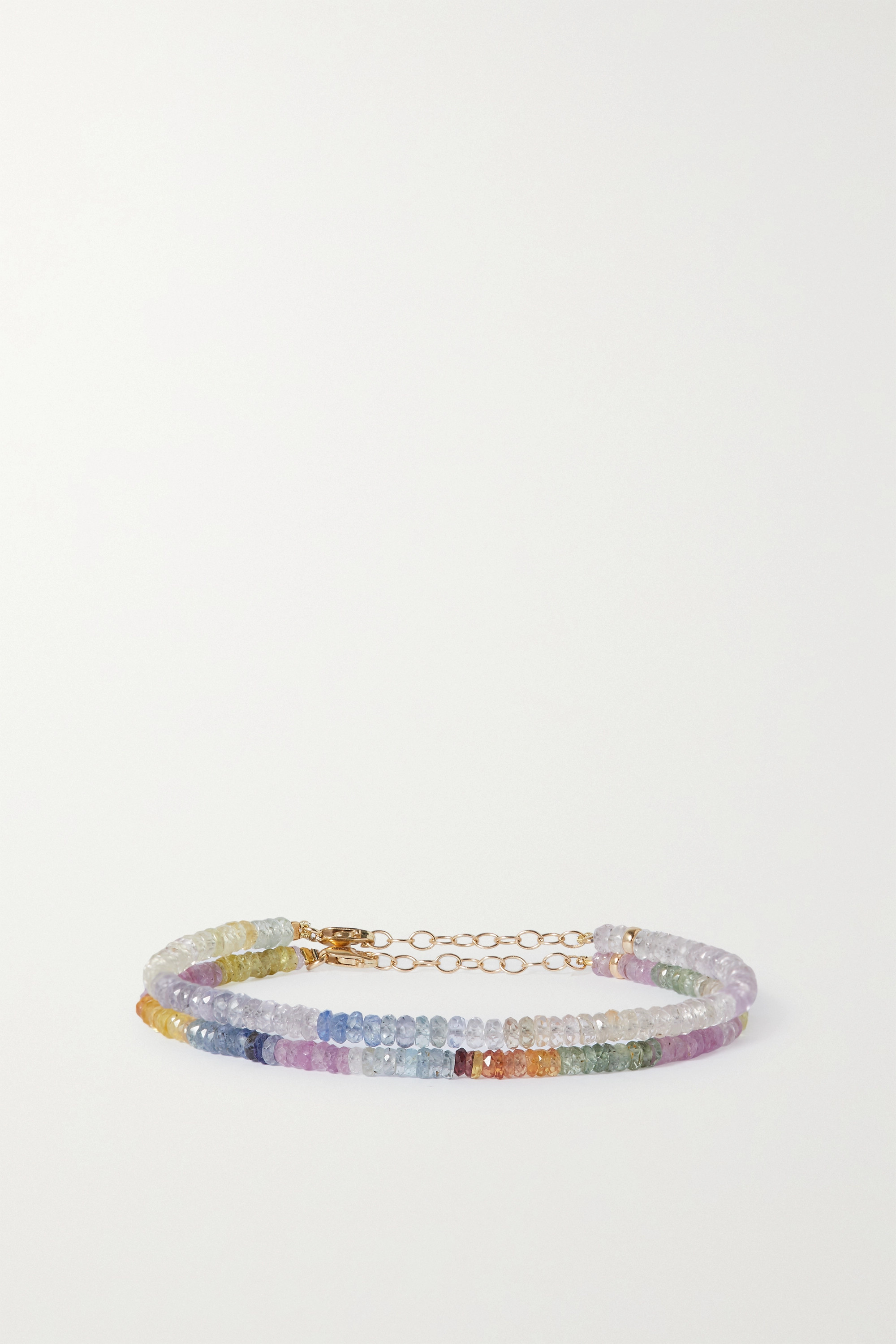 JIA JIA Set of two gold sapphire bracelets