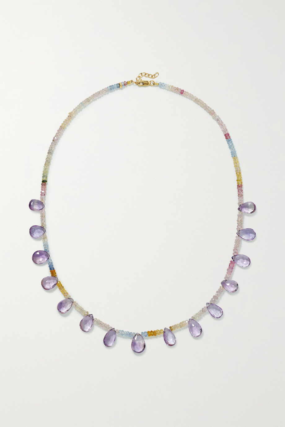 JIA JIA Gold, sapphire and amethyst necklace