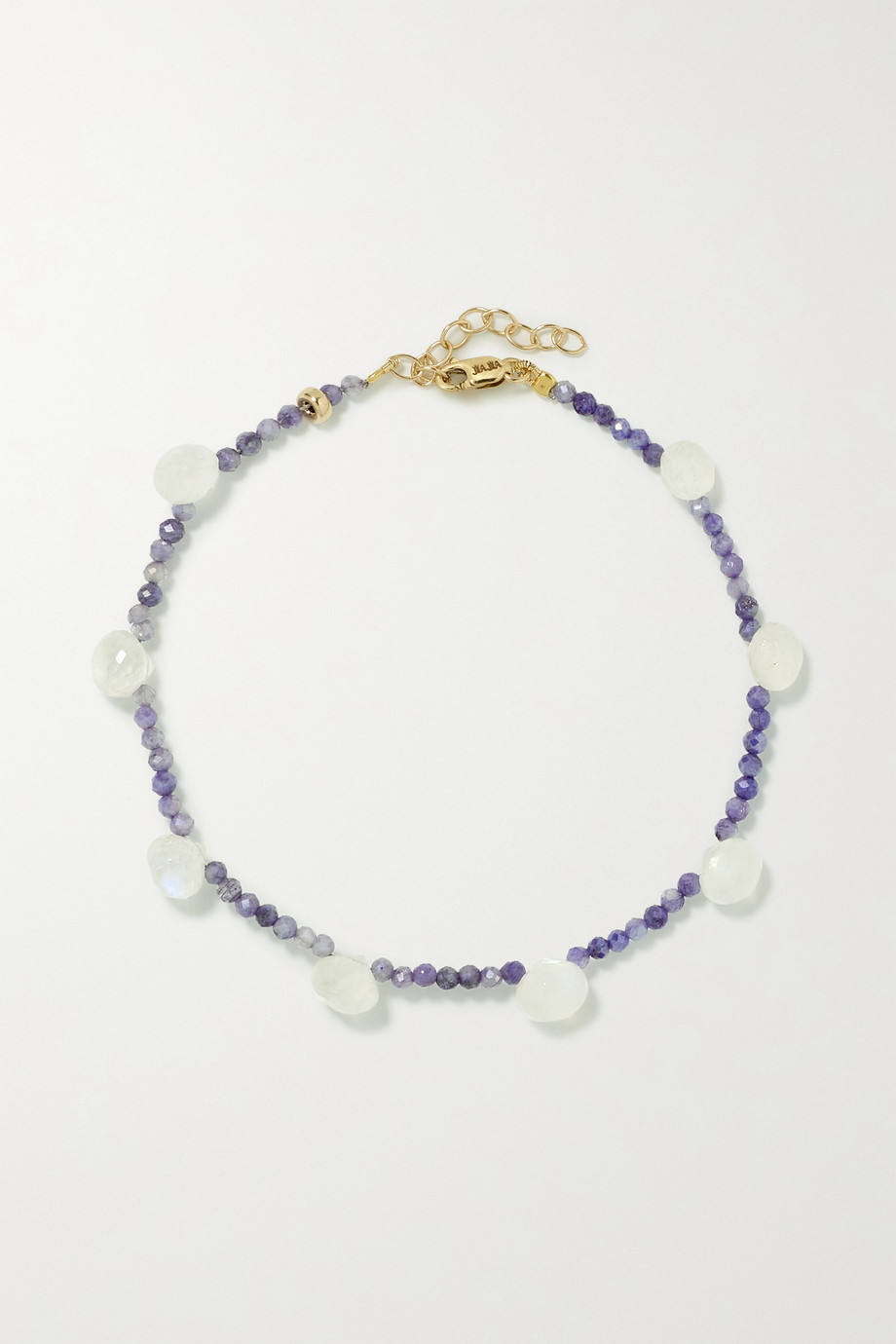 JIA JIA Gold, silverite and moonstone bracelet