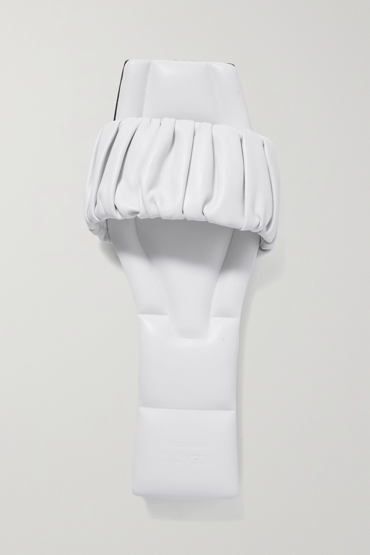 Khaite Crete Pantoletten aus Leder mit Raffungen