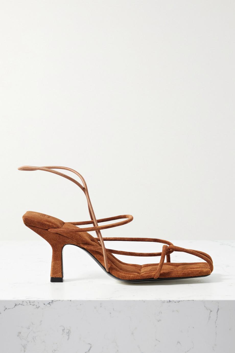 Khaite Monza suede sandals
