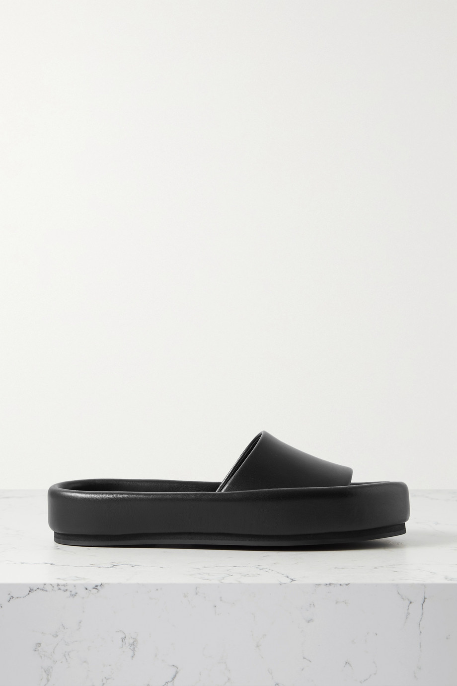 Khaite Venice leather slides