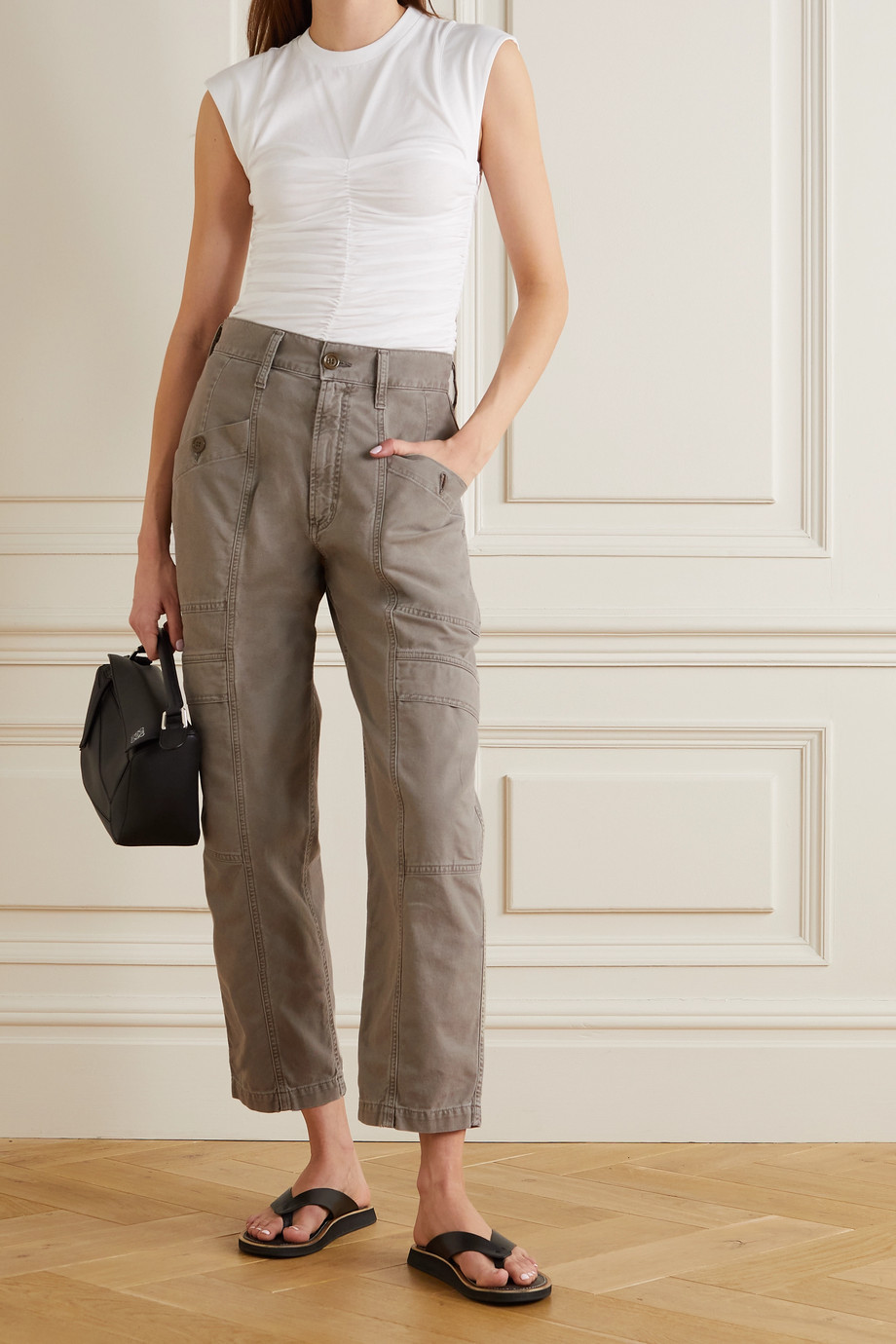 AGOLDE Kai cotton-drill straight-leg cargo pants